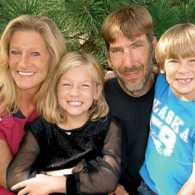 Lindsay Butler, husband Rick and children Lacey and Lars