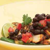 Chicken with Black Bean-Chipotle Sauce