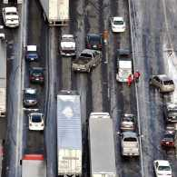Traffic after a snow storm in Atlanta; photo credit: NBCNews.com