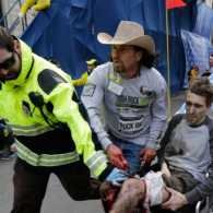 Carlos Arredondo, Boston Marathon bombing hero. Credit: Charles Krupa/AP