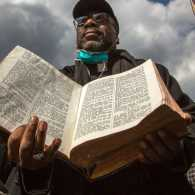 The Bible that survived a Harlem explosion. Photo by Warzer Jaff/New York Post