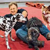 Luciano Anastasini with several of his Pound Puppies