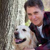 Edward Grinnan and his guardian dog, Millie.