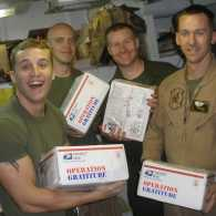 Happy recipients of Operation Gratitude