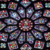 Photo of a rose window at Chartres Cathedral by Claudio Giovanni Colombo