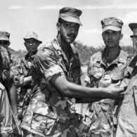 Norman Vincent Peale visiting the troops in Vietnam