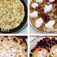 Four pies that competed in the Mysterious Ways pie bake-off.