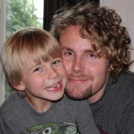 Two of Stories of Faith blogger Shawnelle Eliasen's sons hugging and smiling