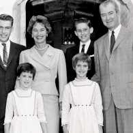 Jimmy Stewart with his family