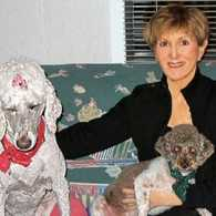 Susan Weidman and her dogs Sophie and Tex