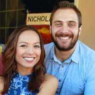 Serina and Mitchell, who are married now but were surprised to learn they met long ago
