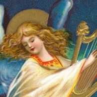 Angels are often portrayed with harps