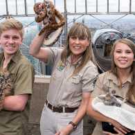 Robert, Terri and Bindi Irwin, stars of the Animal Planet television show 'Crikey! It's The Irwins'