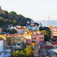 A scenic shot of Lisbon, Portugal
