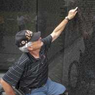 Eddie Beesley at the Vietnam Veterans Memorial in Washington D.C.