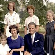 The Rev. Billy Graham, his wife, Ruth, and their children