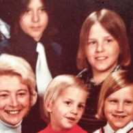 An old photo of Mark and his family.