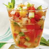 Fruit Gazpacho with Basil and Mint