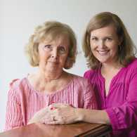 Melanie with her mom, Linda, who battles Alzheimer's