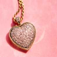 A gold heart pendant