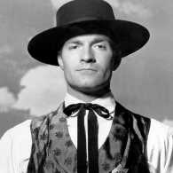 Actor Hugh O'Brian in his most famous role, Old West lawman Wyatt Earp