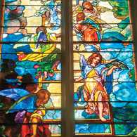 Stained glass window at Grace Church