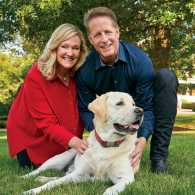 Karen, her husband, Donald, and their Lab, Toby