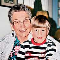 Joel and his grandma Barb