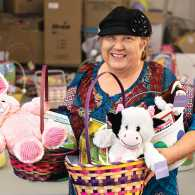 Katie and her volunteers have given away more than 6,000 Easter baskets.