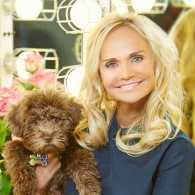 Kristin Chenoweth with her new pup, Thunder