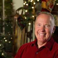 Max Lucado with Christmas decor