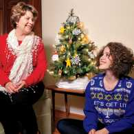 Mari and her mom, Susie, get in the spirit of the season.