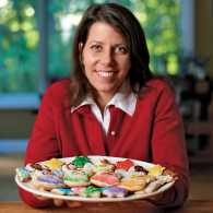 Michelle Mahnke with a plate of homemade Christmas cookies