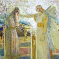 Archangel Gabriel Striking Zechariah Dumb by Alexander Andreyevich Ivanov