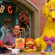 Julia, Elmo, Abby and Big Bird on Sesame Street