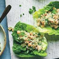 Justin Chapple's Smashed Chickpea Salad Lettuce Wrap