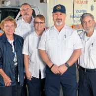 Members of the Sun City crew include (from left) Marilyn Navarro, Ken Ayers, Karen Leonard, Robert Leonard and Ted Stone.