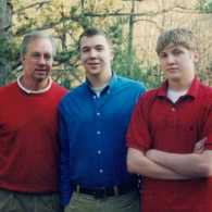 Stephen Grant with his sons Christopher and Kelly
