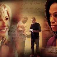 Guideposts: A visual montage of images from War Room, depicting the Kendrick Brothers, Priscilla Shirer and Beth Moore