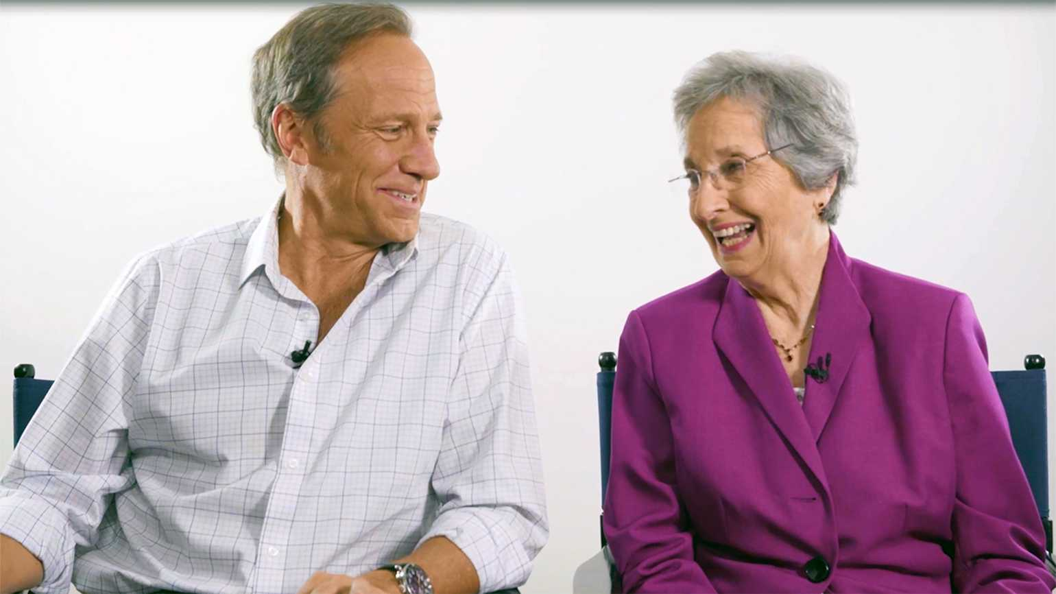 TV host Mike Rowe and his mother, Peggy