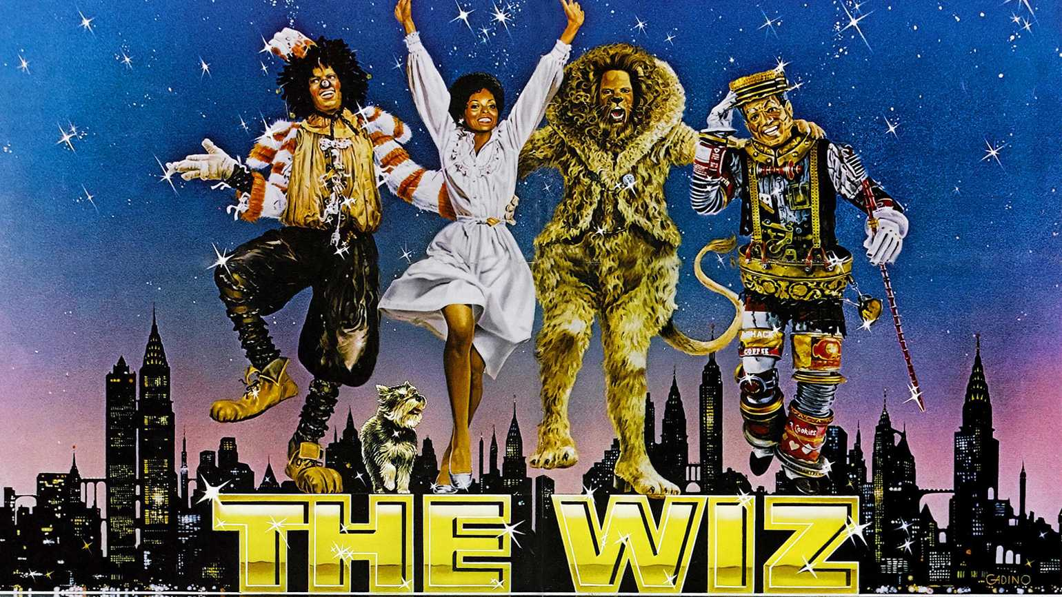 MICHAEL JACKSON, DIANA ROSS, TED ROSS, NIPSEY RUSSELL, THE WIZ, 1978.