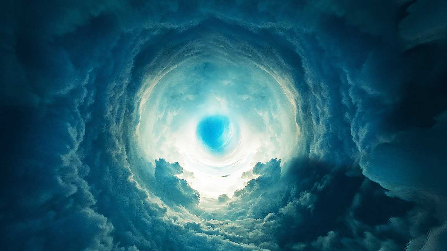 An artist's interpretation of the light at the end of the tunnel that many near-death experiencers report.