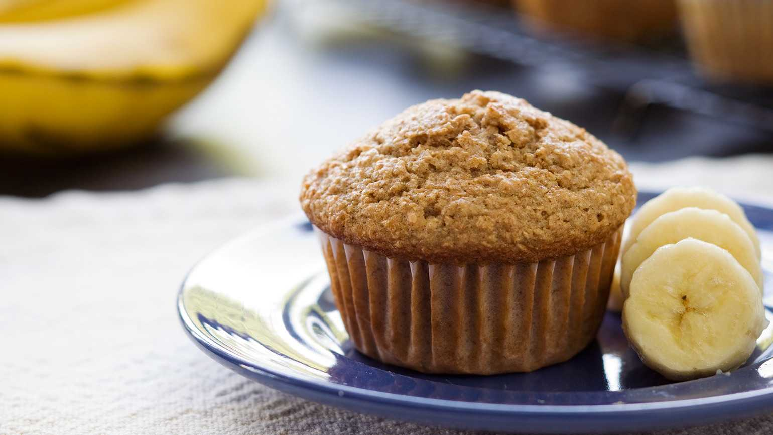 Hearty Banana Muffins