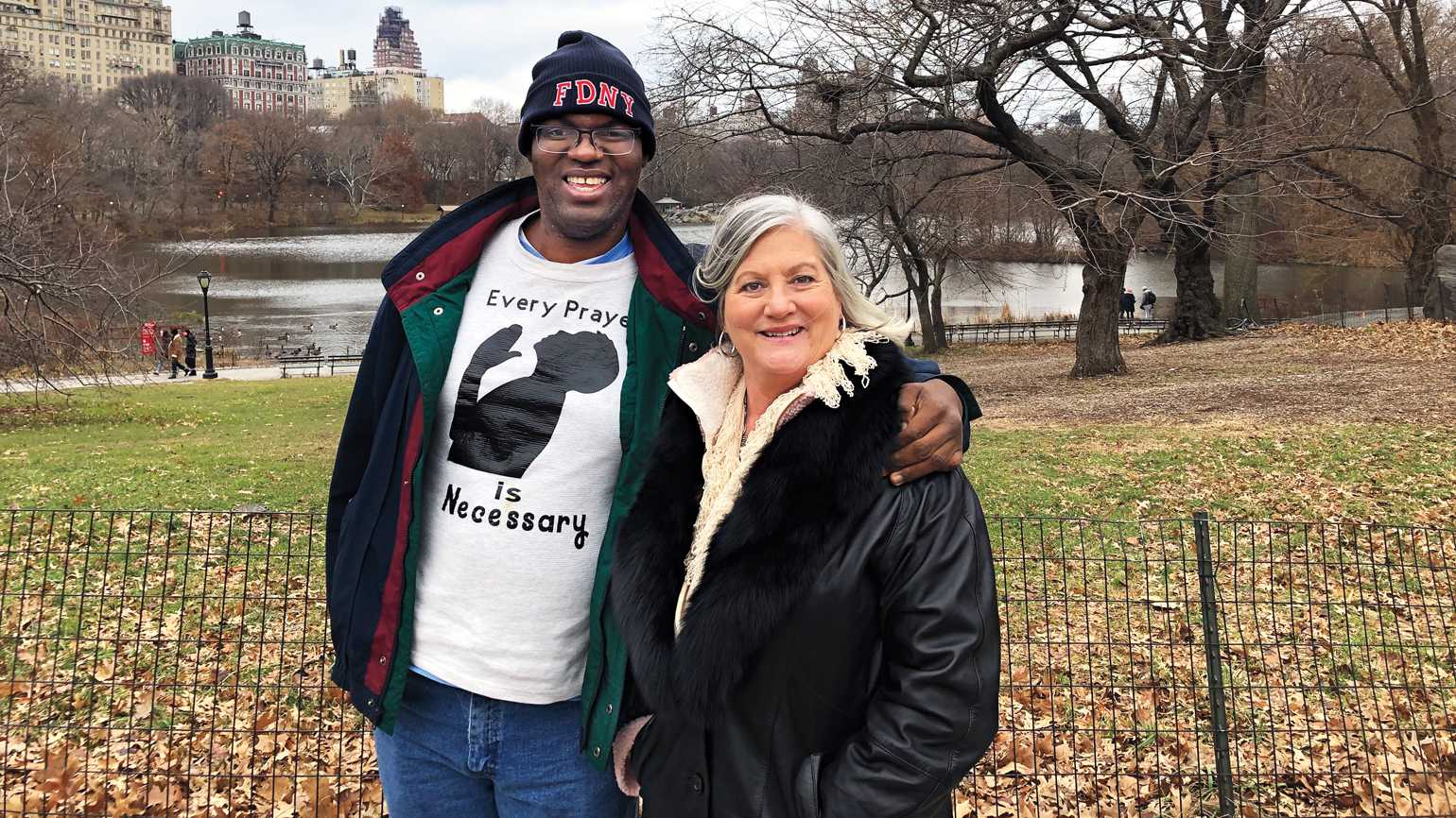 Lori Wood and Jonathan Pickard in Central Park
