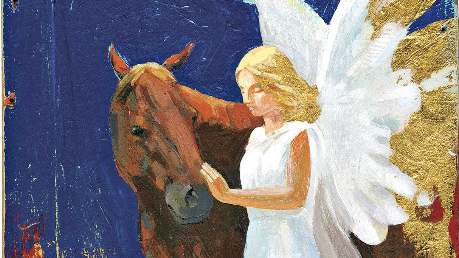 Illustration of a horse and his angel