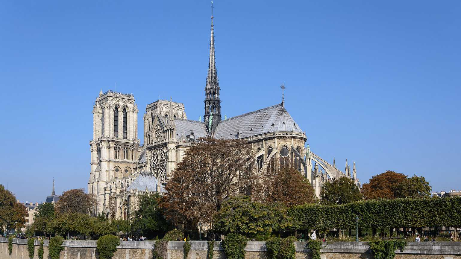 The Notre-Dame Cathedral in Paris.