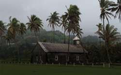 Hawaiian church on the road to Hana.