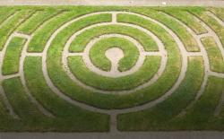 Grass labyrinth at Chartres Cathedral, France. Photo: Thinkstock
