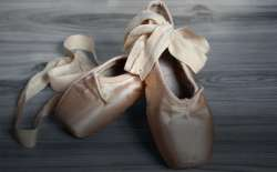 "Toe shoes. May your time to ""dance"" in life come around after tough times."