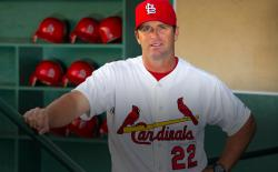 Mike Matheny in the Cardinals dugout